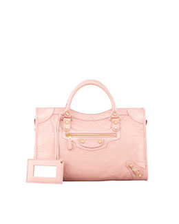 Balenciaga Giant 12 Golden City Bag, Rose Peche