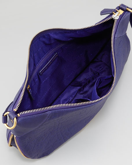 Washed Up Messenger Bag, Electric Blue