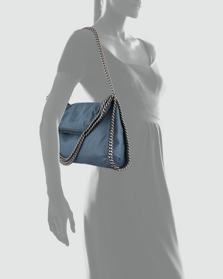 Falabella Fold-Over Tote Bag, Feather Blue