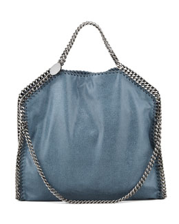 Stella McCartney Falabella Fold-Over Tote Bag, Feather Blue