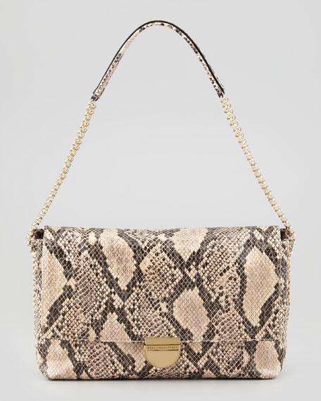 26bdb1e77b Stella McCartney Bailey Boo Medium Faux-Python Shoulder Bag