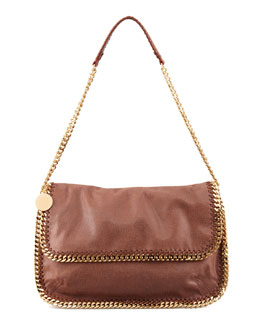 Stella McCartney Falabella Flap Messenger Bag, Maple