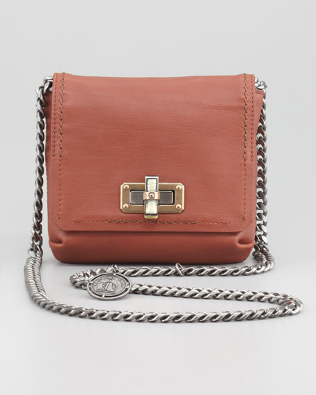 Mini Poppy Crossbody Bag, Tan