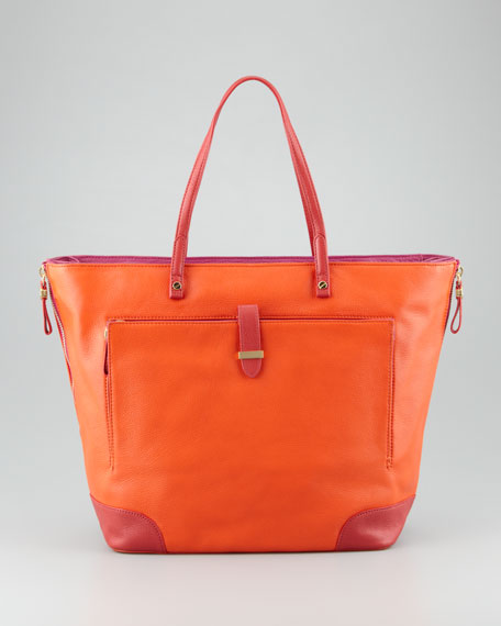 Clay Large Tote Bag, Orange/Pink/Red