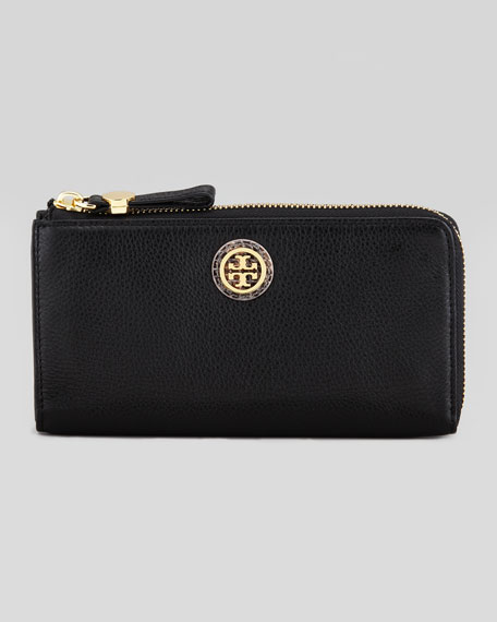 Clay Continental Zip Wallet, Black