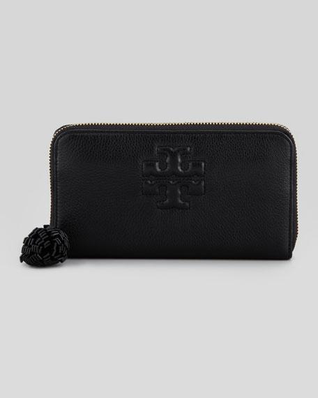 Thea Continental Zip Wallet, Black