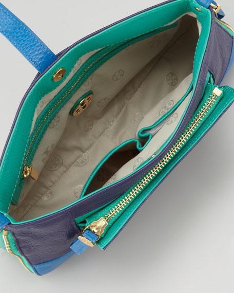 Clay Shoulder/Crossbody Colorblock Bag, Admiral Blue