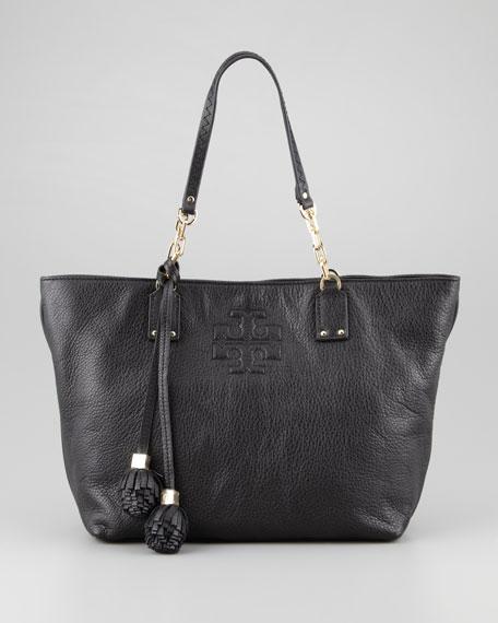 Thea Small Tassel Tote Bag, Black