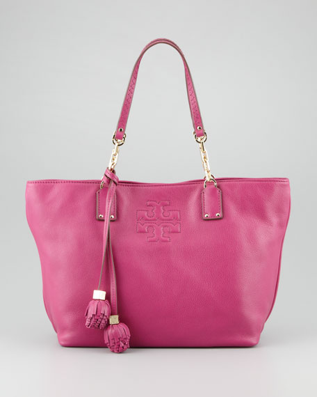 Thea Small Tassel Tote Bag, Wildberry