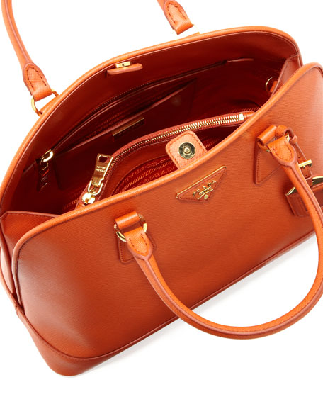 Saffiano Open Promenade Tote, Orange (Papaya)