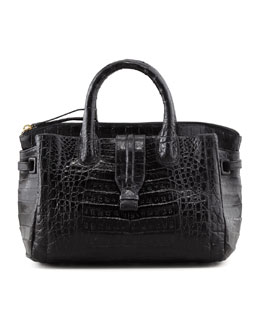 Nancy Gonzalez Cristina Crocodile Tote Bag, Black