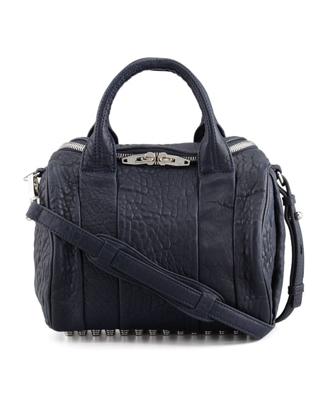 Rockie Small Crossbody Satchel Bag, Ink