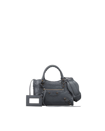 Balenciaga Classic Mini City Bag, Anthracite