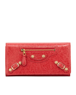 Balenciaga Giant Golden Money Wallet, Rouge Cardinal