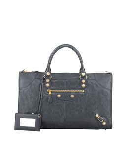 Balenciaga Giant 12 Golden Work Bag, Anthracite