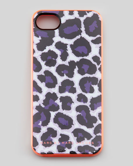 Lenora Leopard-Print iPhone 5 Case, Royal Purple