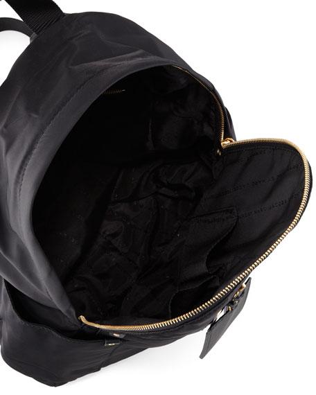 Pretty Nylon Tech Fabric Backpack, Black