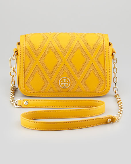 Robinson Patchwork Mini Chain-Strap Bag, Goldenrod
