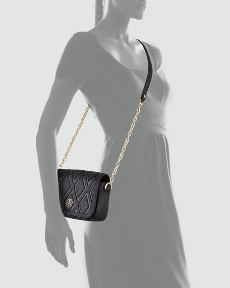 Robinson Patchwork Mini Chain-Strap Bag, Black
