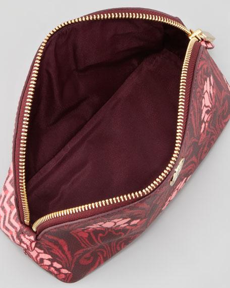 Robinson Makeup Bag, Carmine Floral