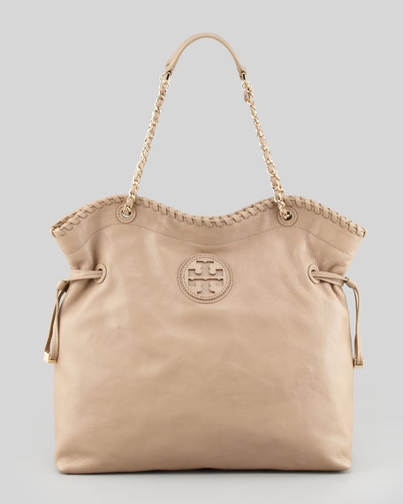 Marion Slouchy Leather Tote Bag, Clay Beige