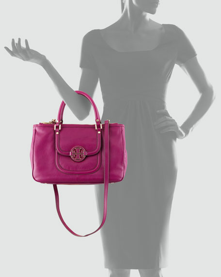 Amanda Double-Zip Tote Bag, Fuchsia
