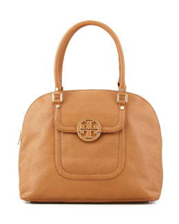 Tory Burch Amanda Dome Tote Bag, Royal Tan