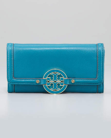 Amanda Continental Flap Wallet, Electric Eel