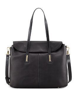 Elizabeth and James Medium Satchel Bag, Black