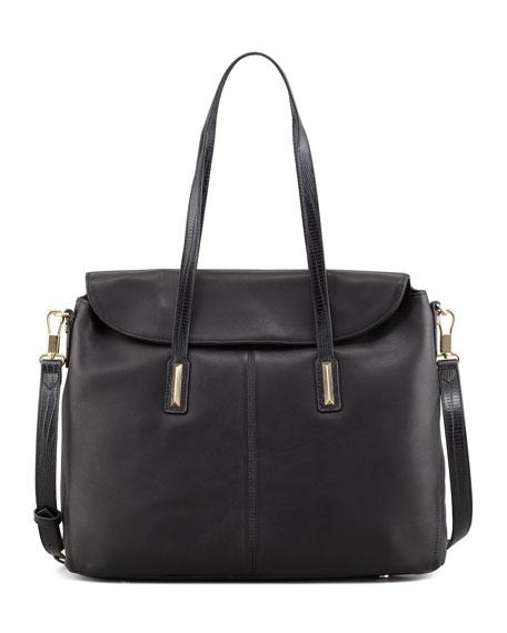 Medium Satchel Bag, Black