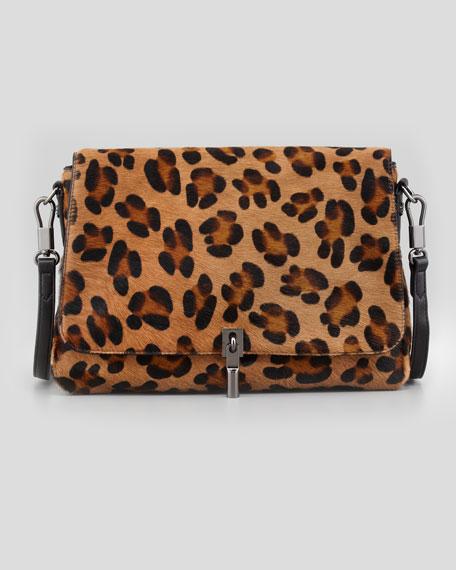 Leopard-Print Calf Hair Mini Crossbody Bag
