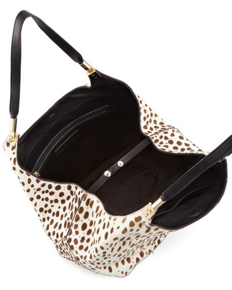 Spotted Calf Hair Shopper Tote Bag