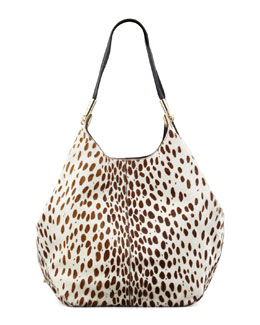 Elizabeth and James Spotted Calf Hair Shopper Tote Bag