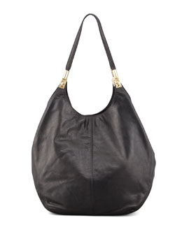Elizabeth and James Leather Shopper Tote Bag, Black