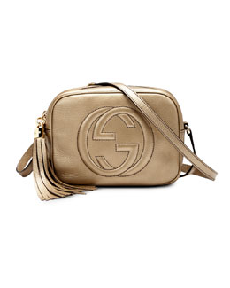Gucci Soho Metallic Leather Disco Bag, Gold