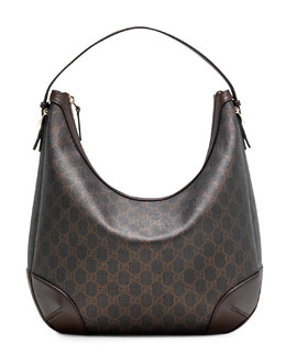 Gucci Gucci Nice GG Supreme Canvas Hobo Bag, Black