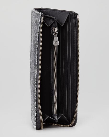 Large Zip Wristlet Wallet, Black