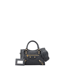 Balenciaga Giant 12 Golden Mini City Bag, Anthracite