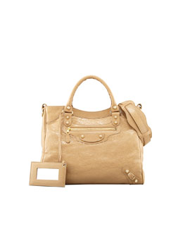 Balenciaga Giant 12 Golden Velo Bag, Beige Nougat