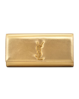 Saint Laurent Cassandre Clutch Bag, Gold