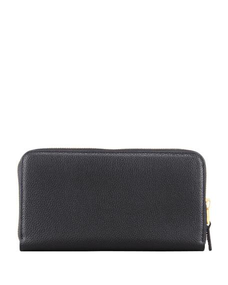 Large Zip Wallet, Black