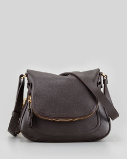Tom Ford Jennifer Small Calfskin Crossbody Bag, Brown