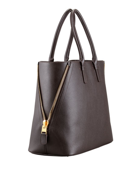 Jennifer Trap Calfskin Tote Bag