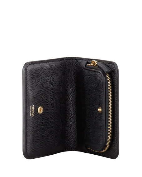Small Zip Wallet, Black