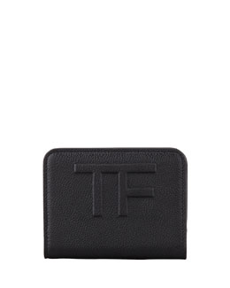 Tom Ford Small Zip Wallet, Black
