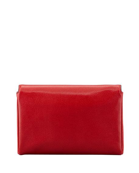 Natalia Turn-Lock Wristlet Bag, Flame Red