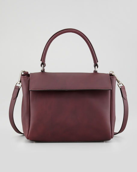 Kelly Mini Leather Crossbody Bag, Prune