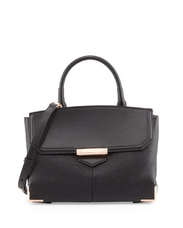 Alexander Wang Marion Leather Shoulder Bag, Black