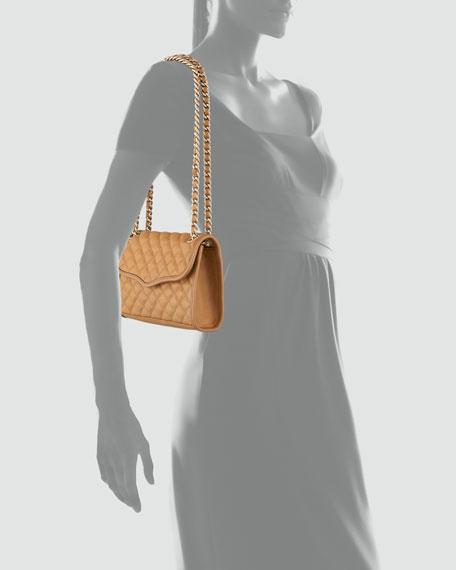 Quilted Affair Mini Shoulder Bag, Camel