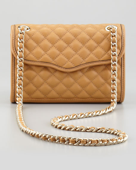Quilted Affair Mini Shoulder Bag, Camel